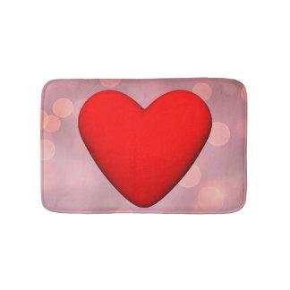Rotes Herz - 3D übertragen Badematte