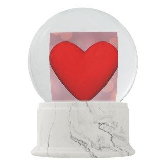 Rotes Herz - 3D übertragen Schneekugel