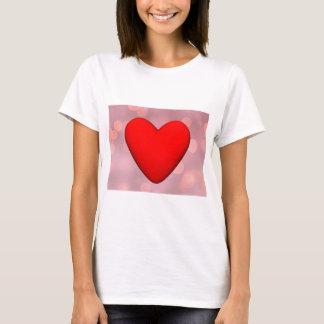 Rotes Herz - 3D übertragen T-Shirt