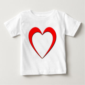 Rotes Herz Baby T-shirt