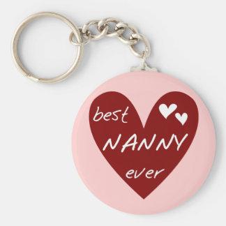 Rotes Herz-beste Kindermädchen-überhaupt T - Schlüsselanhänger