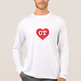 Rotes Herz Connecticuts - große Liebe T-Shirt