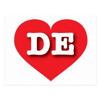Rotes Herz Delawares - große Liebe Postkarte