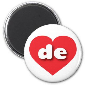 Rotes Herz Delawares - MiniLiebe Runder Magnet 5,7 Cm