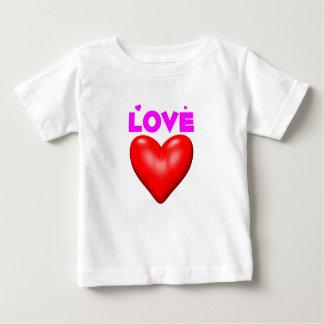 Rotes Herz der Liebe Baby T-shirt