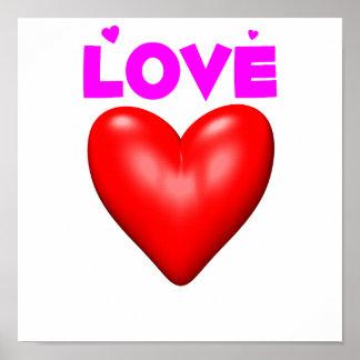 Rotes Herz der Liebe Plakatdrucke