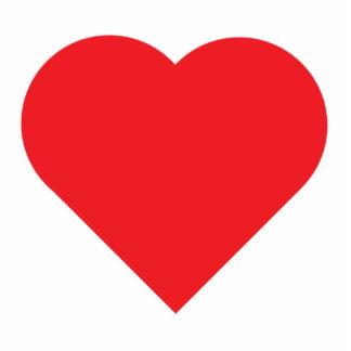Rotes Herz Fotoskulptur Schlüsselanhänger