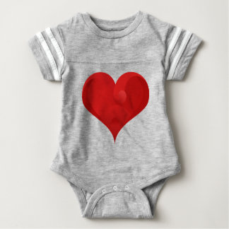 Rotes Herz für Valentinstag Baby Strampler