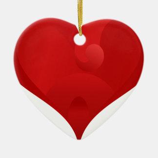 Rotes Herz für Valentinstag Keramik Ornament