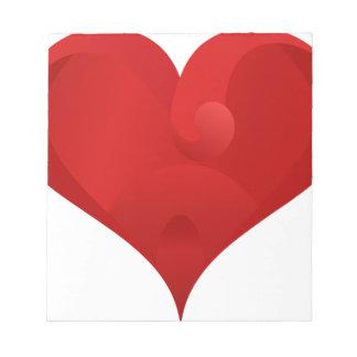 Rotes Herz für Valentinstag Notizblock