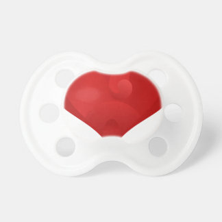Rotes Herz für Valentinstag Schnuller