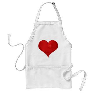 Rotes Herz für Valentinstag Schürze