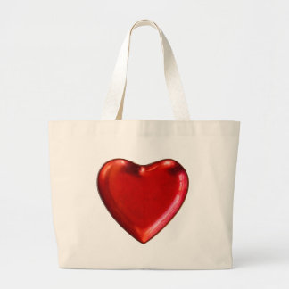 Rotes Herz Jumbo Stoffbeutel