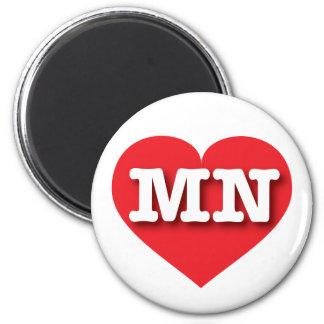 Rotes Herz Minnesotas - große Liebe Runder Magnet 5,1 Cm
