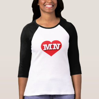 Rotes Herz Minnesotas - große Liebe T-Shirt