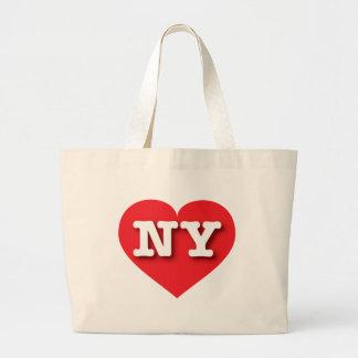 Rotes Herz New York - große Liebe Jumbo Stoffbeutel