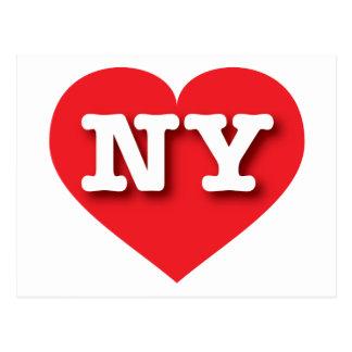 Rotes Herz New York - große Liebe Postkarte