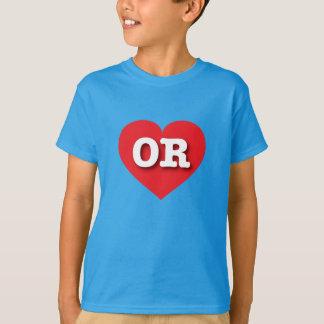 Rotes Herz Oregons - große Liebe T-Shirt