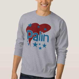 Rotes Herz Palin grundlegendes Sweatshirt