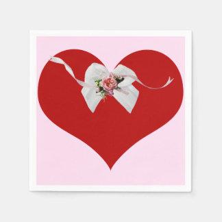 Rotes Herz Papierservietten