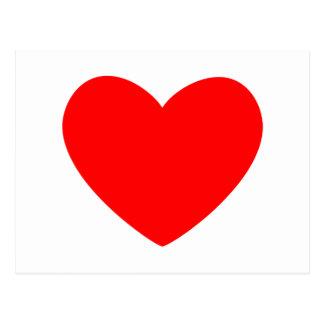 Rotes Herz Postkarten