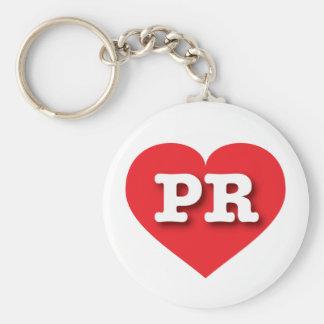Rotes Herz Puertos Rico - große Liebe Schlüsselanhänger
