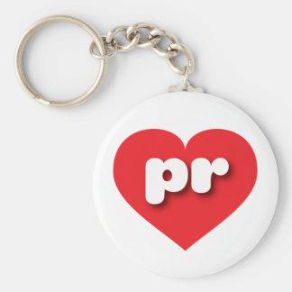 Rotes Herz Puertos Rico - MiniLiebe Schlüsselanhänger