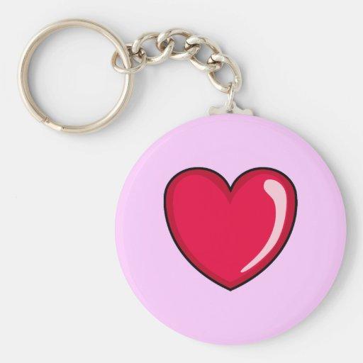Rotes Herz Schlüsselband