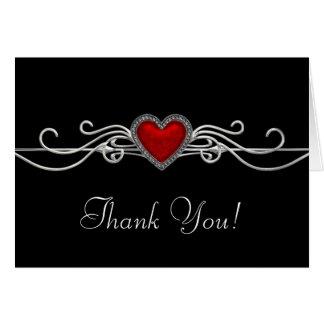 Rotes Herz-Schwarzes danken Ihnen Karten