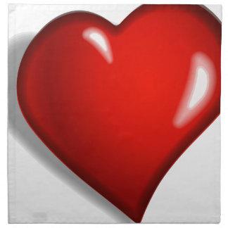 Rotes Herz Serviette