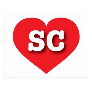 Rotes Herz South Carolina - große Liebe Postkarte