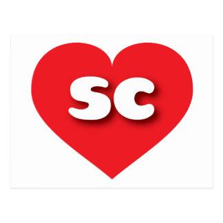 Rotes Herz South Carolina - MiniLiebe Postkarte