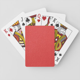 Rotes holperiges Muster Spielkarten