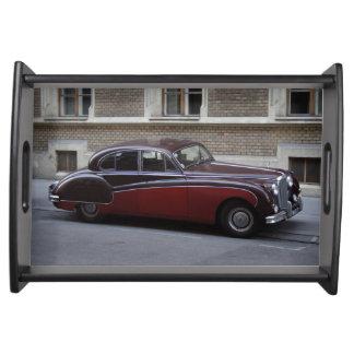 Rotes Jaguar-Kennzeichen IX Serviertablett