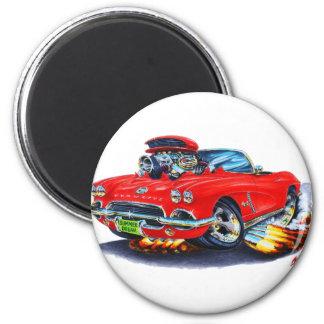 Rotes Kabriolett 1962 Korvette Runder Magnet 5,7 Cm