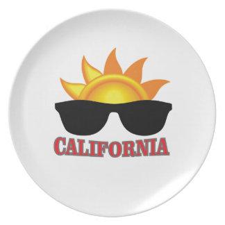 rotes Kalifornien cool Teller