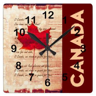 rotes kanadisches Ahornblatt mit athem Kanada Uhren