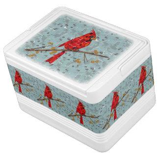 Rotes Kardinals-Mosaik Kühlbox
