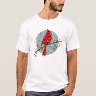 Rotes Kardinals-Mosaik T-Shirt