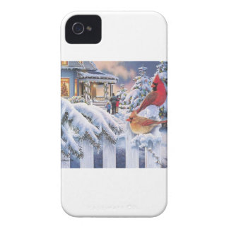 Rotes Kardinals-Weihnachten iPhone 4 Case-Mate Hüllen