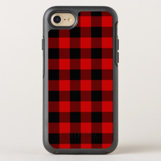 Rotes kariertes OtterBox symmetry iPhone 8/7 hülle