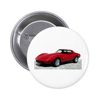 Rotes klassisches Auto 1979 Anstecknadel