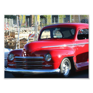 Rotes klassisches Auto Photodrucke