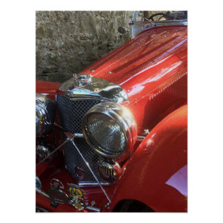 Rotes klassisches Sport-Auto Poster
