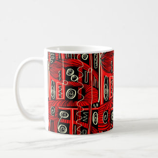 rotes Koffein Kaffeetasse
