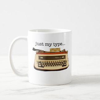 Rotes königliches 'gerade mein Type Kaffeetasse