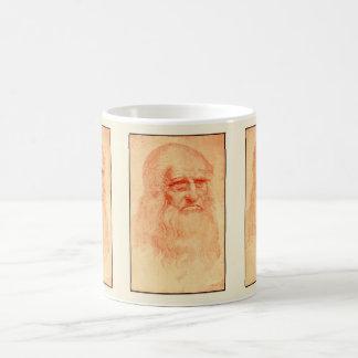 Rotes Kreideselbstporträt von Leonardo da Vinci Kaffeetasse