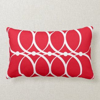 Rotes Kreis-Muster-Kissen Lendenkissen