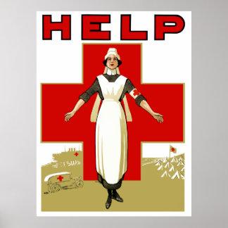 Rotes Kreuz -- Hilfe Poster