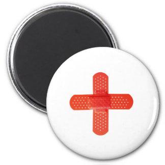 Rotes Kreuz Runder Magnet 5,1 Cm